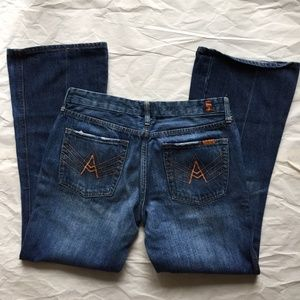 7 FOR ALL MANKIND A POCKET SIZE 31 BOOT CUT